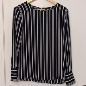 Ann Taylor navy stripped blouse, small